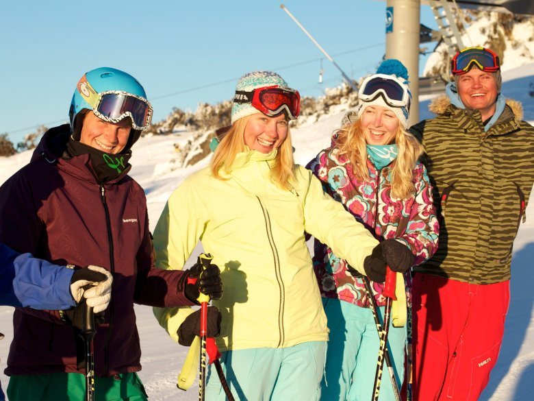 Australia's Perisher Resort is best skied with friends.