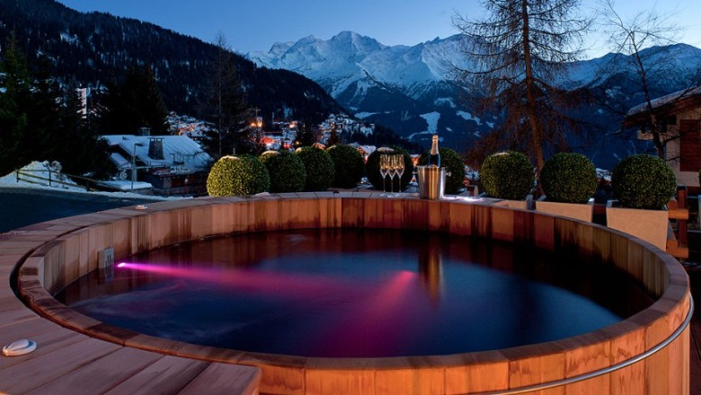 The view from chalet No. 14, available through Verbier Exclusive