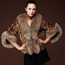 leopard print ski coat
