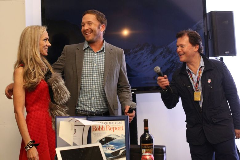 Bomber Ski owners KT Stallings Bren, Bode Miller and Robert Siegel at A SNOW AFFAIR.