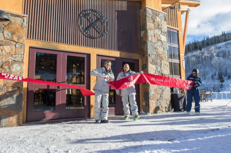 Park City COO Bill Rock Assists in Miners Camp Ribbon Cutting (PRNewsFoto/Vail Resorts, Inc.)