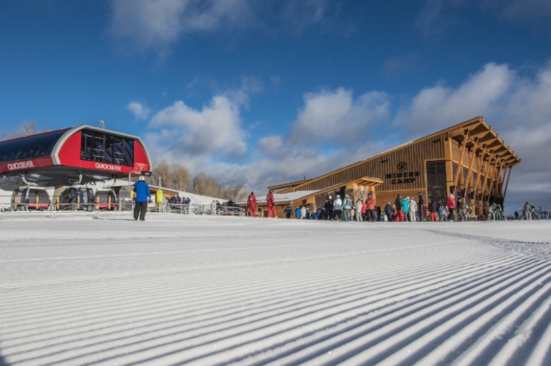 New Quicksilver Gondola and Miners Camp Restaurant on Dec. 18, 2015 (PRNewsFoto/Vail Resorts, Inc.)